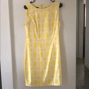 Yellow Bodycon Pattern Dress